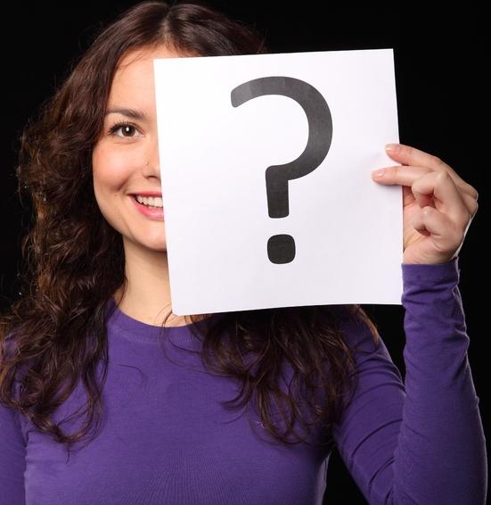 Vrouw met vraagteken